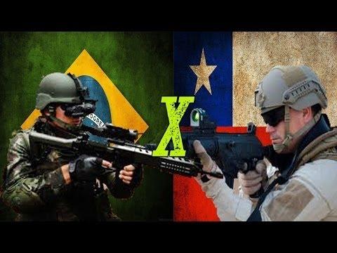 Brasil x Chile - Comparação Militar