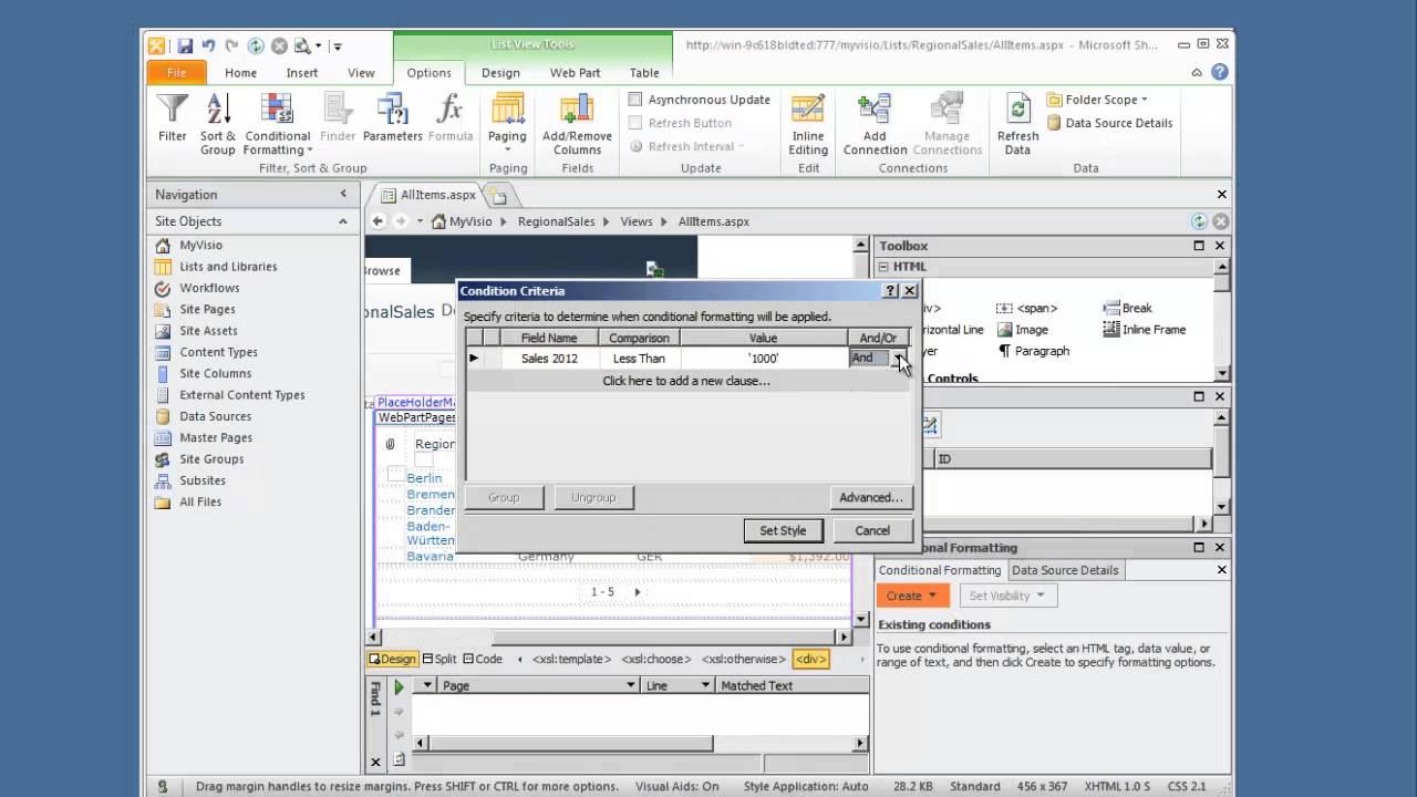 Sharepoint designer 2010 really easy dashboard youtube maxwellsz