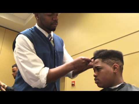 High-Top Fade With a Juice Part & Freestyle Faded Design