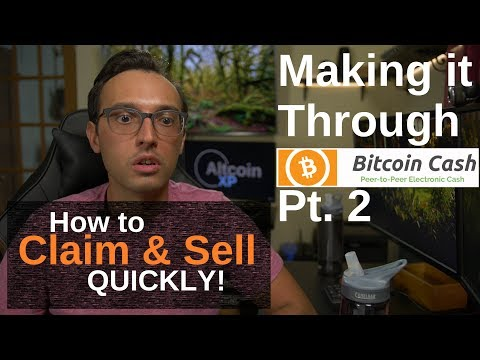 How To Claim And Sell Your Bitcoin Cash BCC/BCASH/BCH Quickly!!!