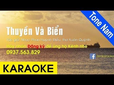 Thuyền Và Biển Karaoke Beat Chuẩn (Tone Nam)