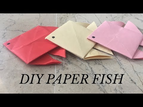 How To Make DIY Paper Fish Very Easy | YOU CAN DIY | Decoration Ideas