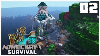 NEW MINE ENTRANCE!!! - Minecraft 1.16 Survival Let's Play - Episode 2