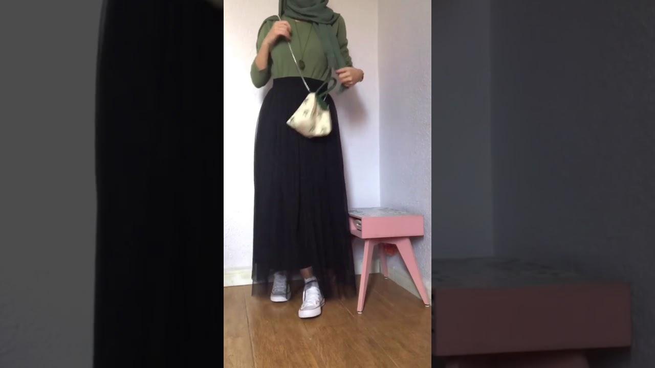 [VIDEO] - أخر موضة فساتين طويلة للمحجبات لخريف وشتاء سنة 2020/2019 - hijab outfit 1