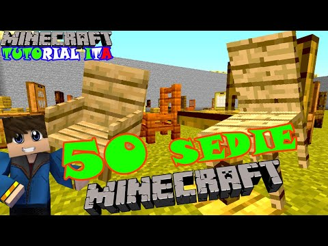 BUILD HACK MINECRAFT: 50 TIPI DI SEDIE - MINECRAFT TUTORIAL ITA