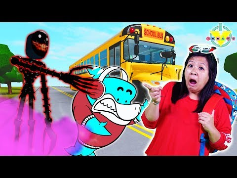 HORROR HIGH SCHOOL! Scariest ROBLOX High School ! Ryans Mommy gets chased by MONSTER!