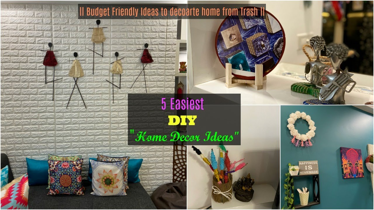 5 Diy Home Decor Ideas You Can Easily Diy At Home Best Out Of Waste Ideas Organizopedia Youtube