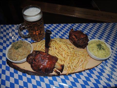 German Food Challenge Octoberfest Pub's Double Pork Knuckle Challenge!!