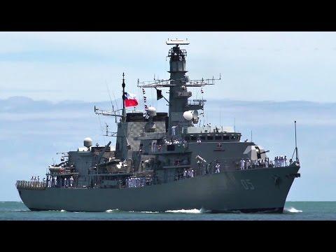 Chilean Navy CNS Almirante Cochrane Arrives At Pearl Harbor For RIMPAC 2016