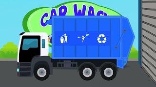 Caminhão de lixo | Veículos para crianças | Lavagem de carro | Vehicle For Children | Garbage Truck