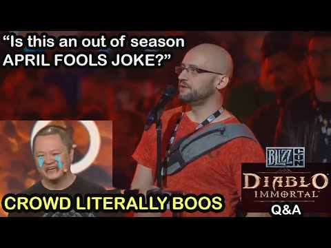 Diablo Immortal Devs get BOOED live on stage at Q&A &