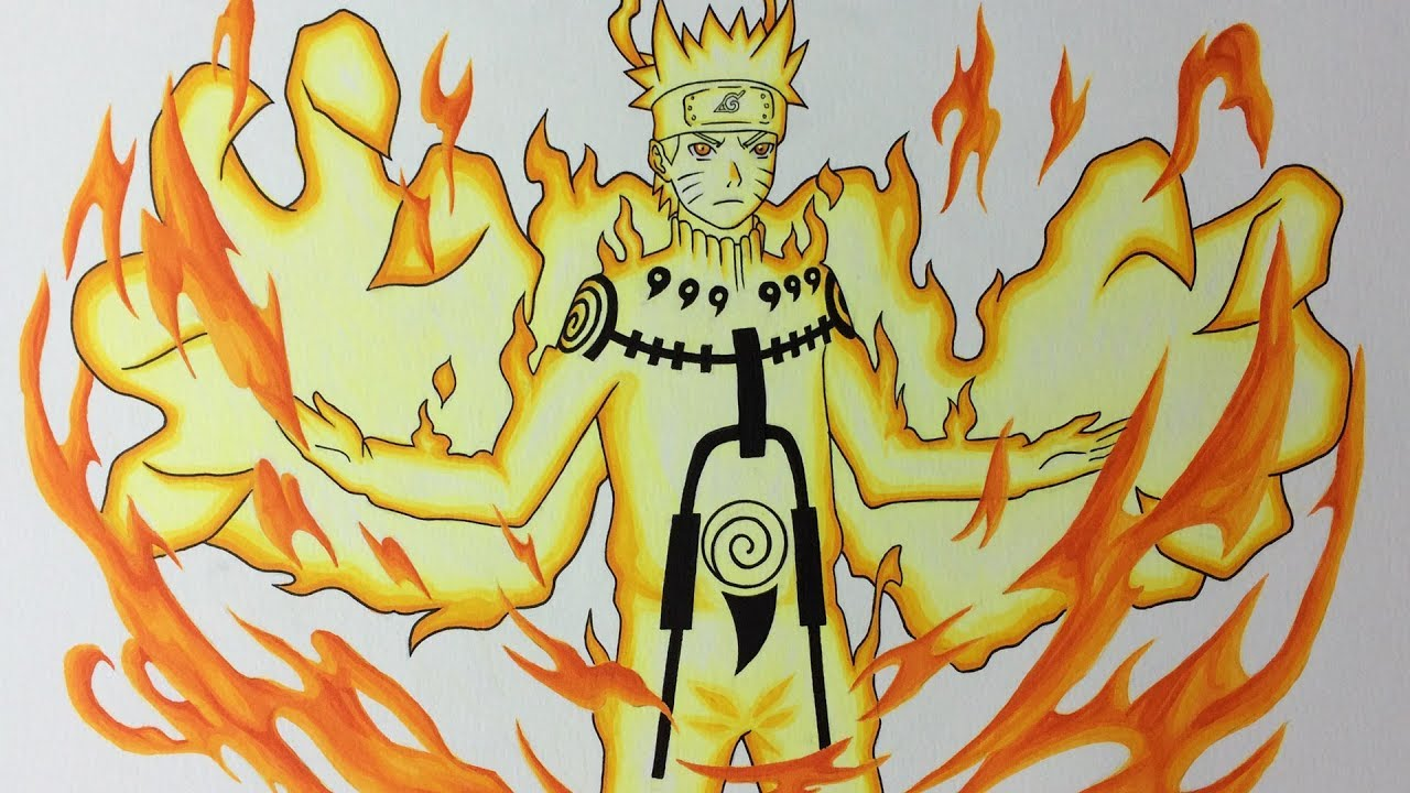Biju Mode Naruto: Drawing Naruto Uzumaki