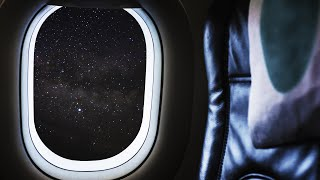 BLACK SCREEN Airplane White Noise Sounds for Sleep ✈️ 10 Hours