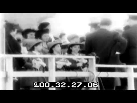 Launching Of 5 Cargo Ships Christened By Dionne Quintuplets, Superior, Wisconsin, 05/09/1943 (full)