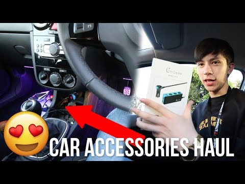 UPGRADING MY FIRST CAR INTERIOR FOR UNDER £100! CAR ACCESSORIES! 😱