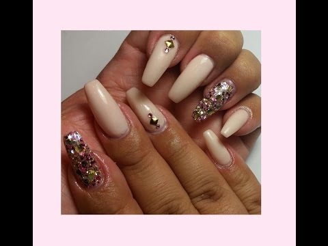 How To Do Classy Chic Pink Nude Coffin Shaped Nails