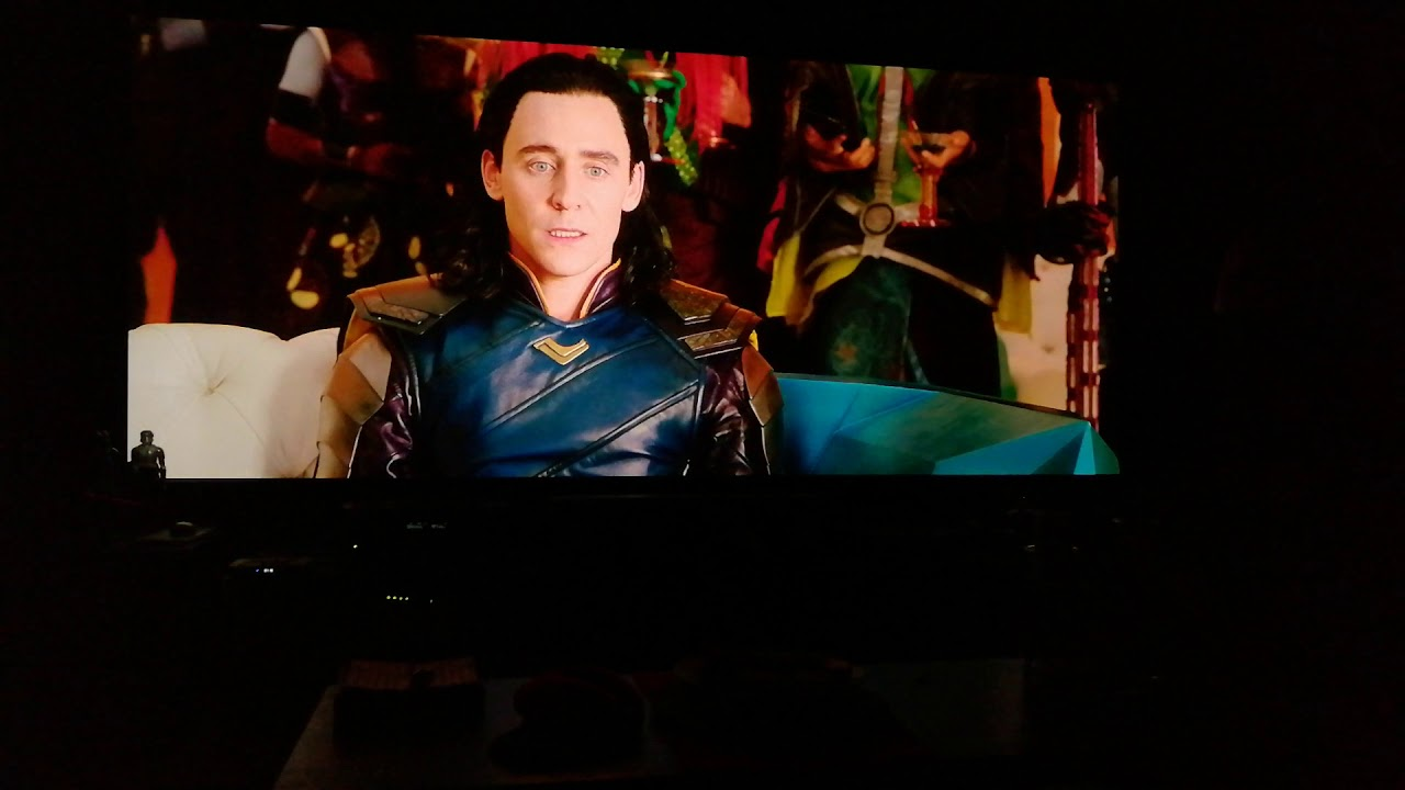 Thor ragnarok on 150inch 2:35 1 screen with JVC Rs400 (X5000) projector