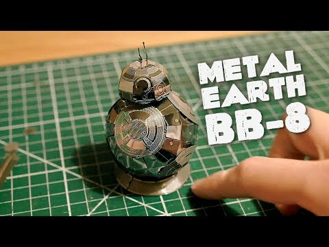 "Me ""trying"" to build the METAL EARTH BB-8 model kit"