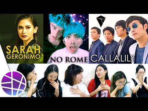 Koreans React to OPM #2 (Sarah Geronimo, No Rome, Callalily) | EL's Planet