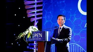 Bộ trưởng Bộ Thông tin Truyền thông Nguyễn Mạnh Hùng chúc mừng CMC ra mắt Hệ sinh thái C.OPE2N