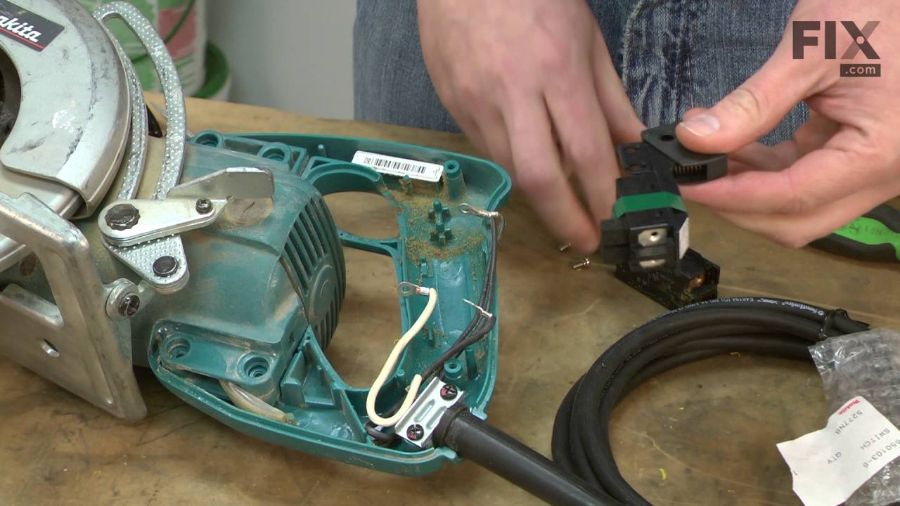 makita circular saw repair – how to replace the switch