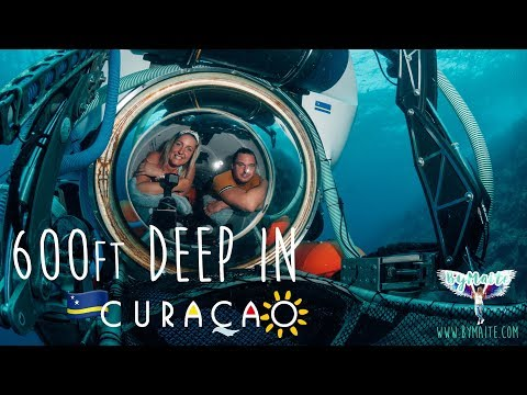 600ft deep underwaterworld @ Curacao ⏅ TRAVEL VLOG #3 (preview 3/3)