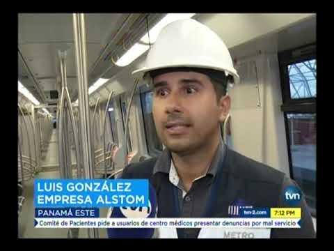 TVN  Línea 2 del Metro de Panamá realixza travesía de prueba
