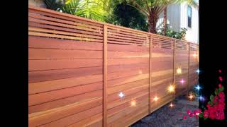 Best Wooden Fence Ideas, Wooden Fence Ideas For Beautiful Home, Exterior Backyard Design Ideas #1