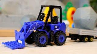 Видео с игрушечными машинами. Завал на дороге. Трактор - Погрузчик