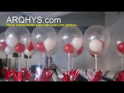 ¿Cómo decoro con globos un cumpleaños Fiestas, bodas, dorar con globos, ideas, fotos.