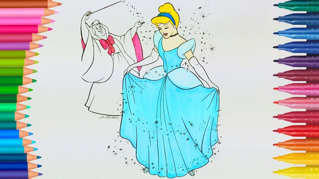 Külkedisi Prenses Sindirella Ile Renkleri öğreniyoruz çocuklar Için
