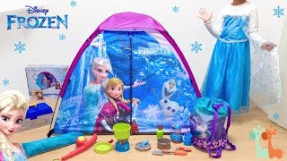 Disney Frozen Elsa Pretend Play Camp Set : Play Tent and Camping Gear Tools Toy