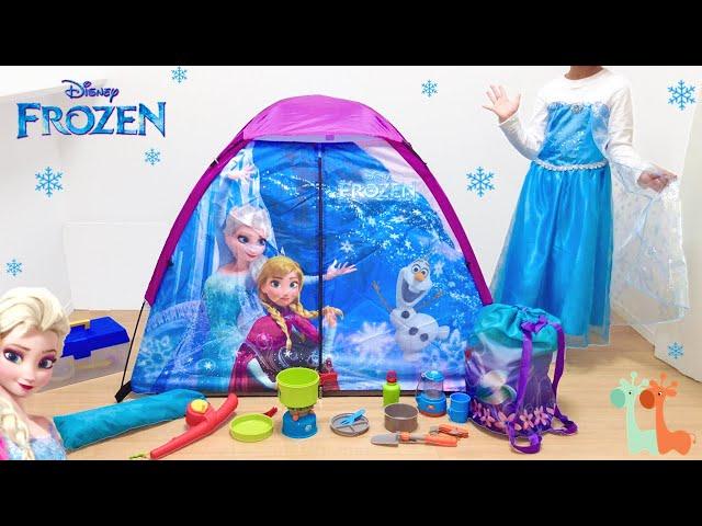 エルサ テントセット キャンプ ディズニープリンセス Disney Frozen Elsa Pretend
