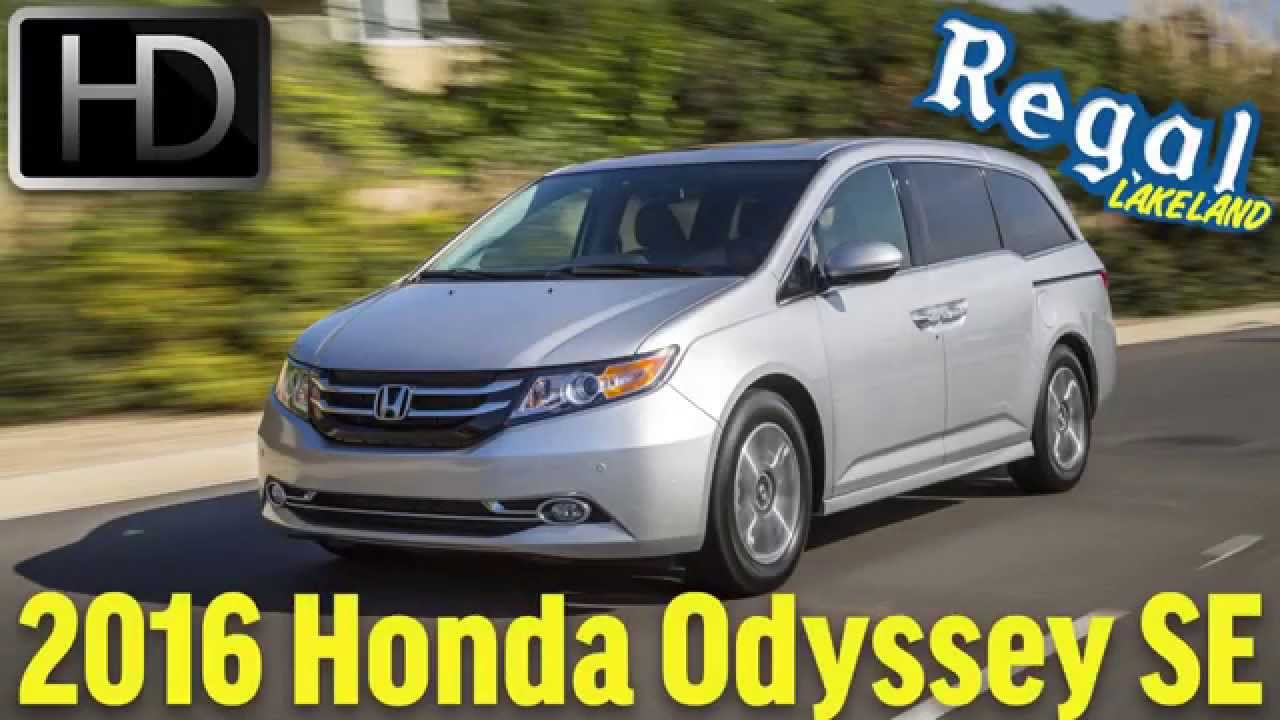 2016 Honda Odyssey Se Review And Test Drive At Regallakeland