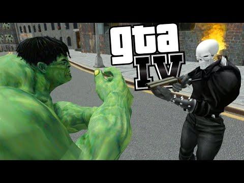 Motoqueiro Fantasma Contra o Hulk - GTA IV Sem Limite