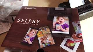 UNBOXING + DEMO Canon Selphy Printer CP1300