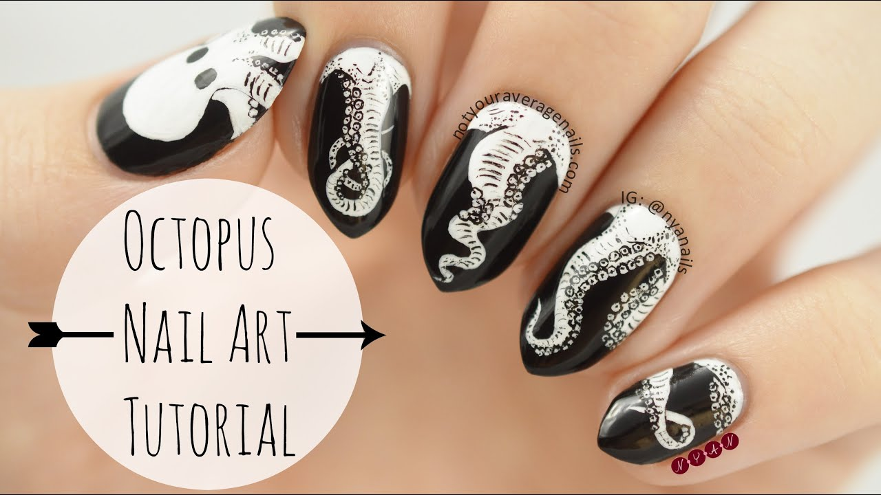 Octopus nail art tutorial youtube prinsesfo Image collections