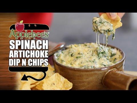 Superbowl Snack #1:  Applebee's Spinach Artichoke Dip Recipe | HellthyJunkFood