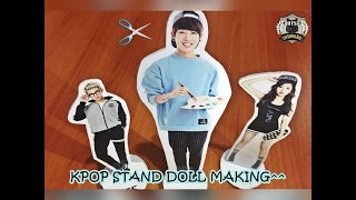 DIY Kpop Stand Doll Making