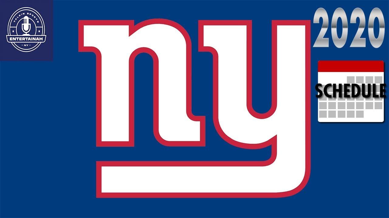 ny giants schedule 2020
