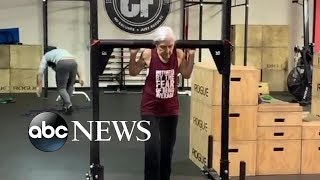 72-year-old woman who does CrossFit daily is serious #workoutgoals | GMA Digital