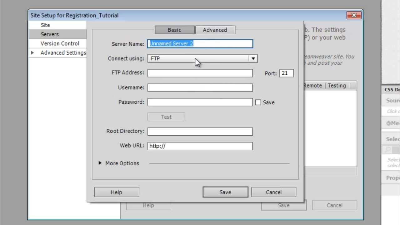 How to create a registration and login page in dreamweaver for Create design online