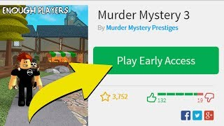 GETTING EARLY ACCESS TO ROBLOX MURDER MYSTERY 3!