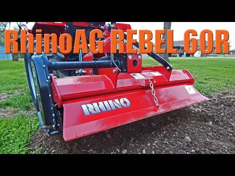 RhinoAG Rebel Series: Reverse Direction Rotary Tiller