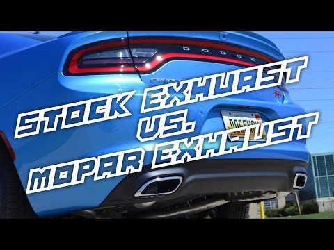 2015 Dodge Charger R/T Stock vs Mopar Exhaust Comparison