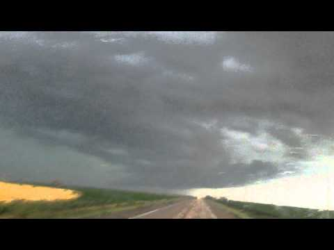 Twister was forming above the highway closed to Hugoton ks