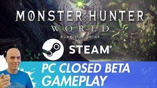 MONSTER HUNTER WORLD PC Closed Beta Steam Gameplay Deutsch-German / Grafik, Steuerung, Tortenmenü