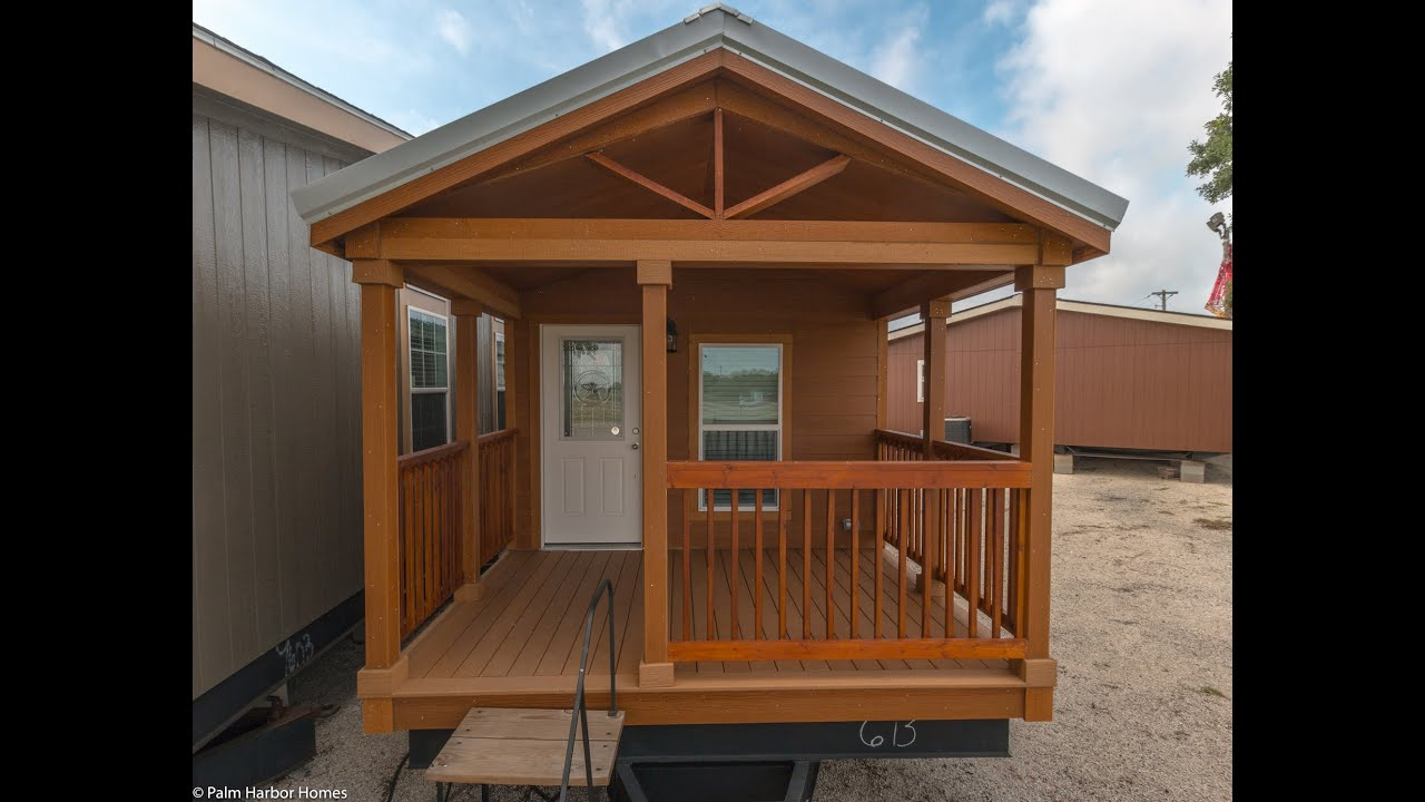 Palm harbor homes seguin tiny house giveaway youtube for Prefab shotgun house