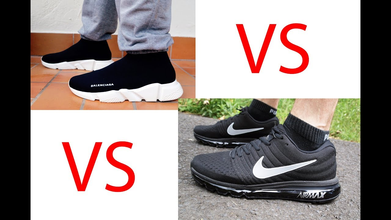 e5e618913530 Nike Air Max 2017 vs Balenciaga Speed Trainer Running Review 1 - YouTube