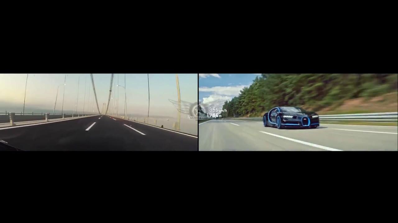 bugatti chiron vs kawasaki h2r 0-400-0 - youtube